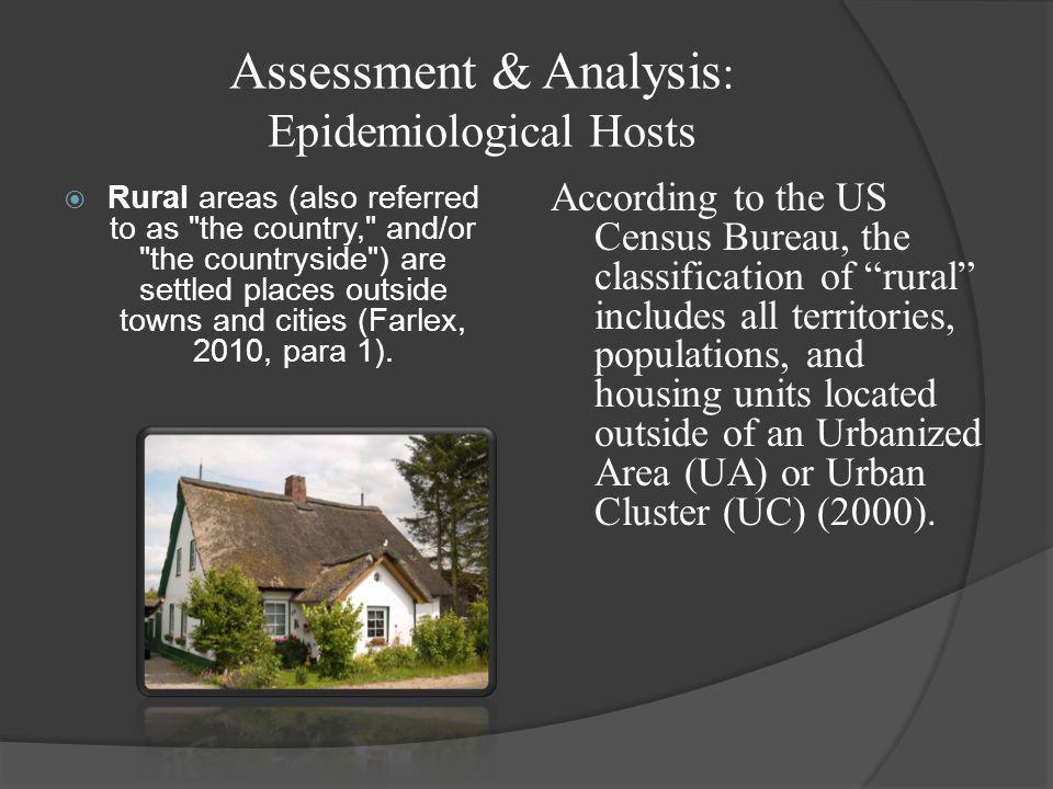 Assessment & Analysis: Epidemiological Hosts