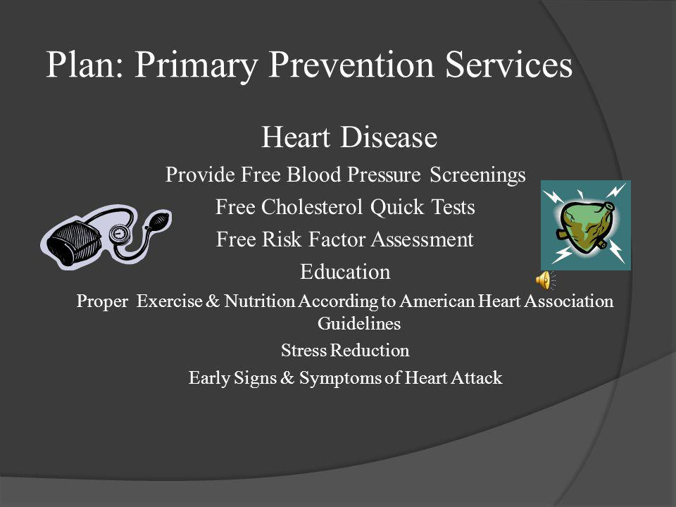 Plan: Primary Prevention Services