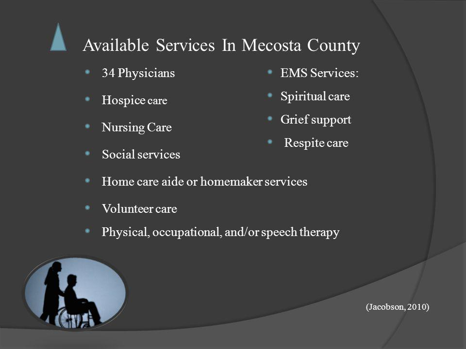 Available Services In Mecosta County