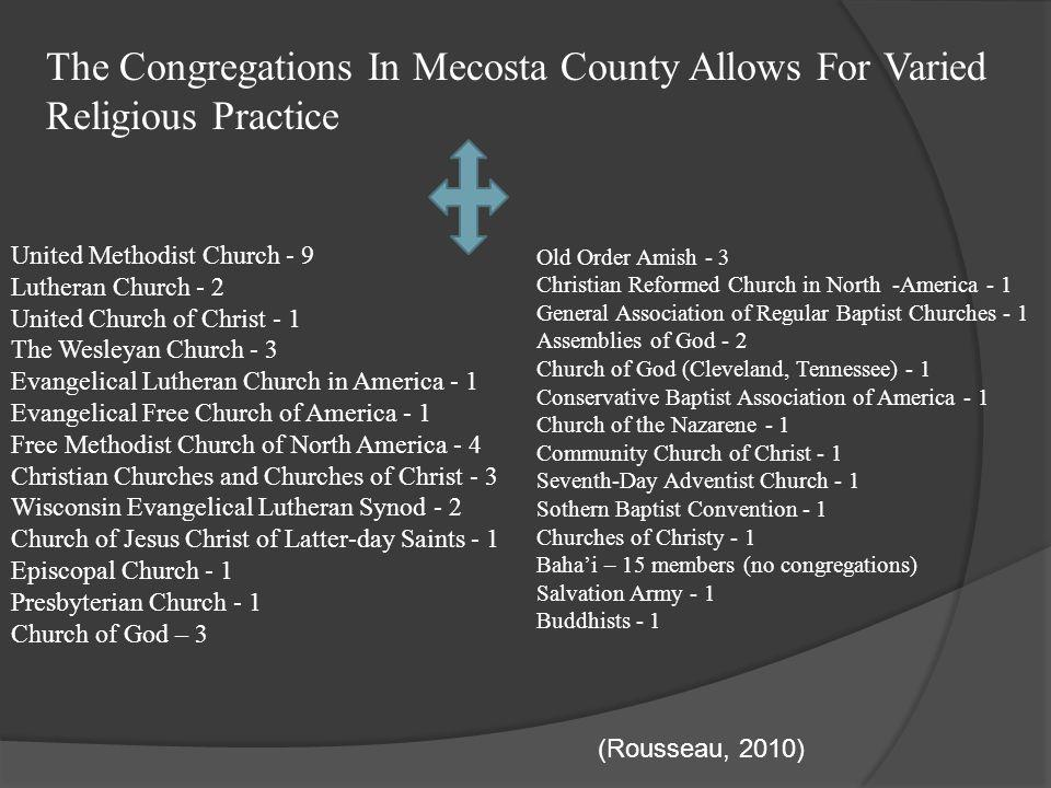 The Congregations In Mecosta County Allows For Varied Religious Practice