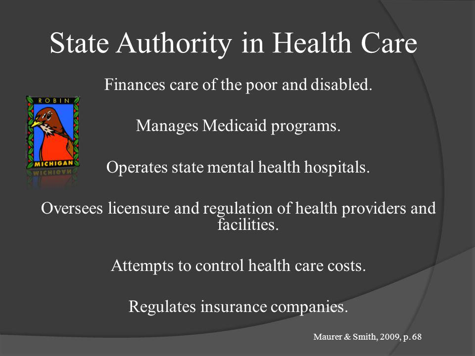 State Authority in Health Care