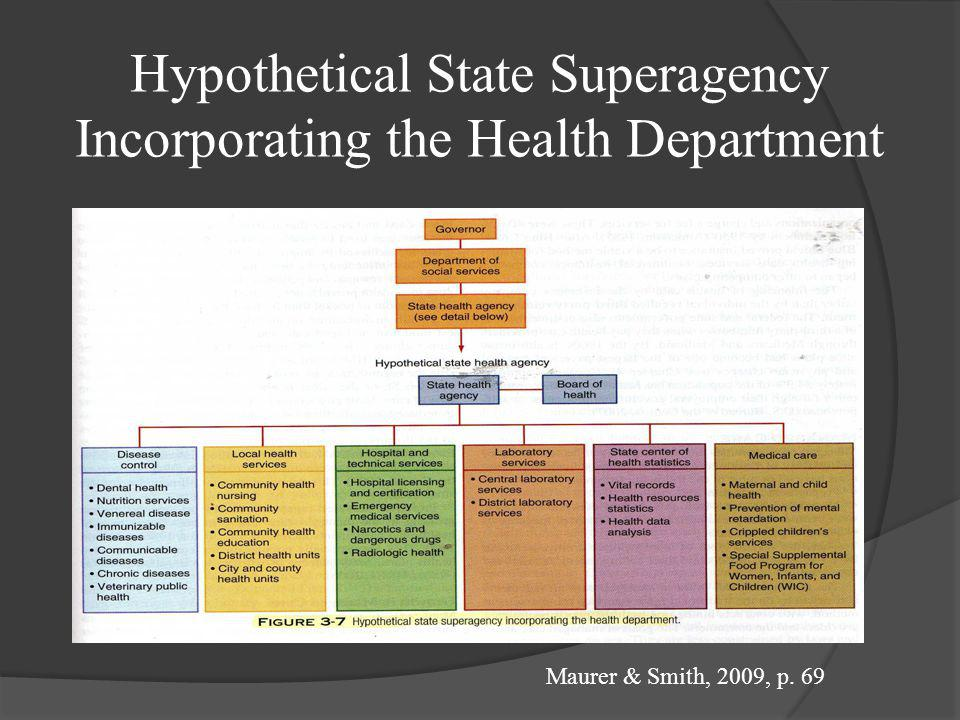 Hypothetical State Superagency Incorporating the Health Department
