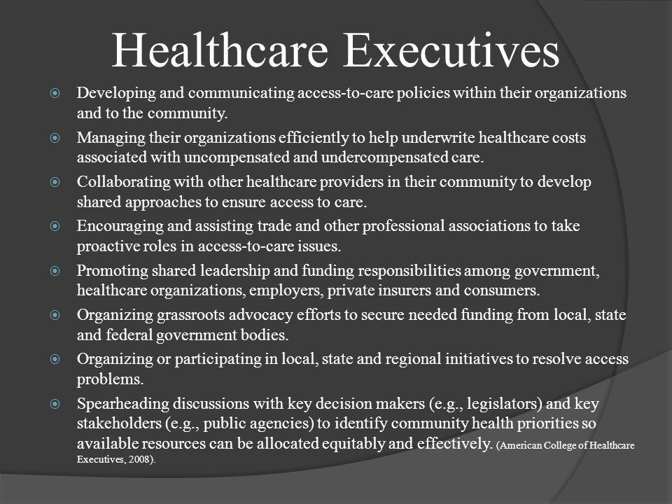 Healthcare Executives