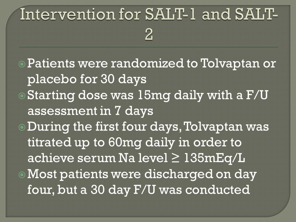 Intervention for SALT-1 and SALT-2