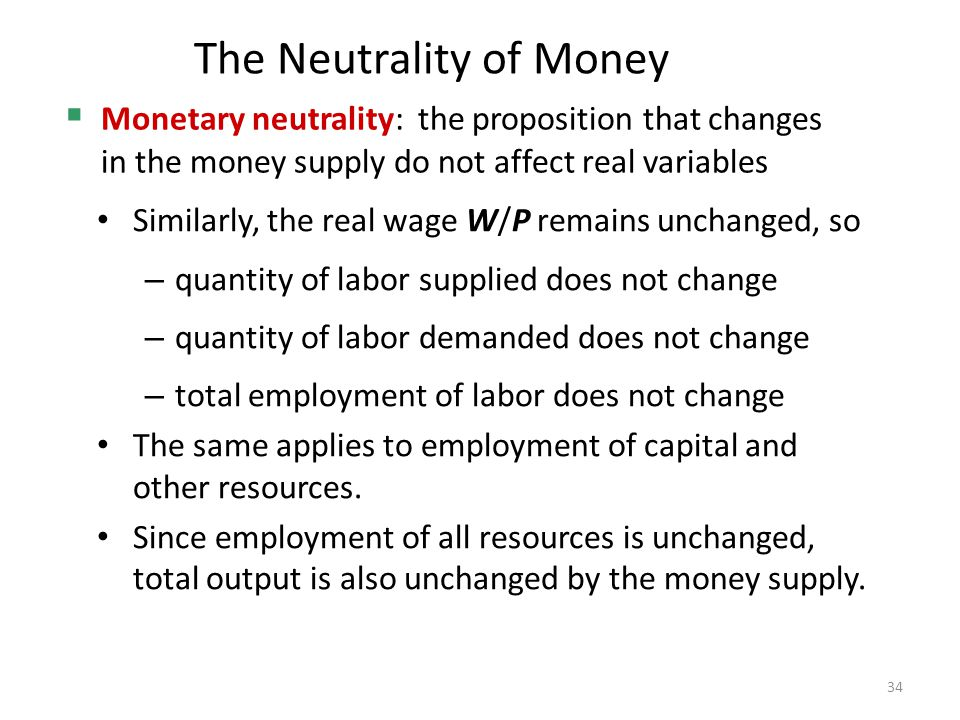 The Neutrality of Money