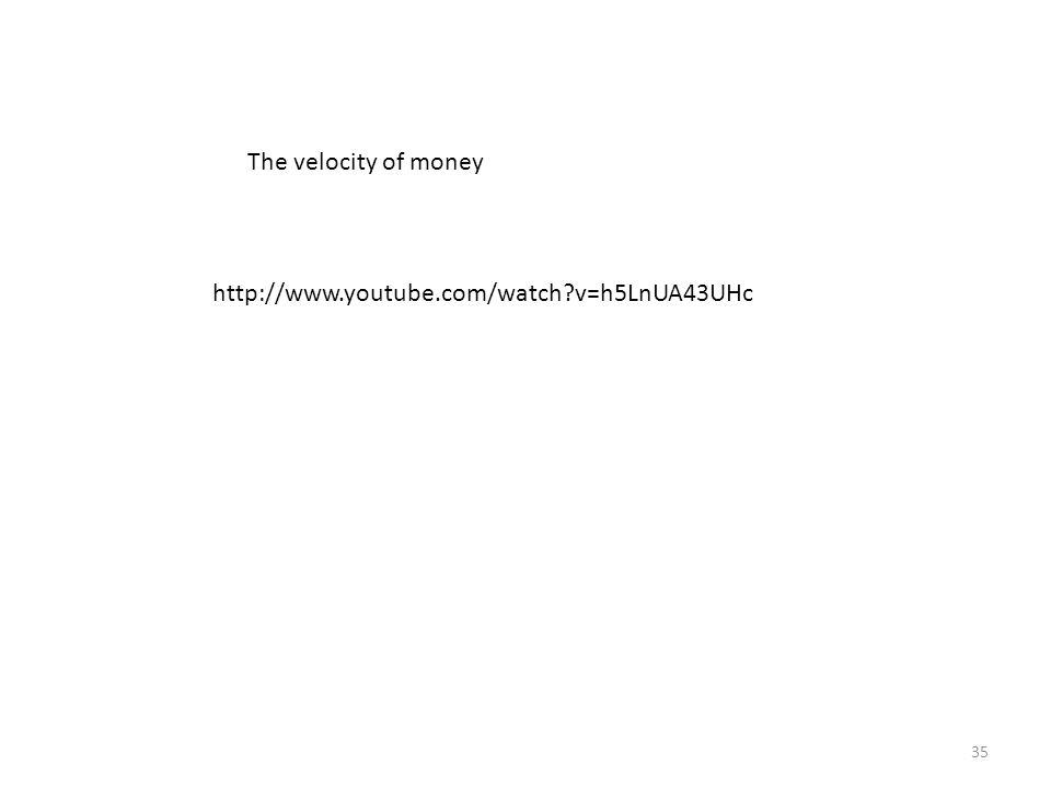 The velocity of money http://www.youtube.com/watch v=h5LnUA43UHc