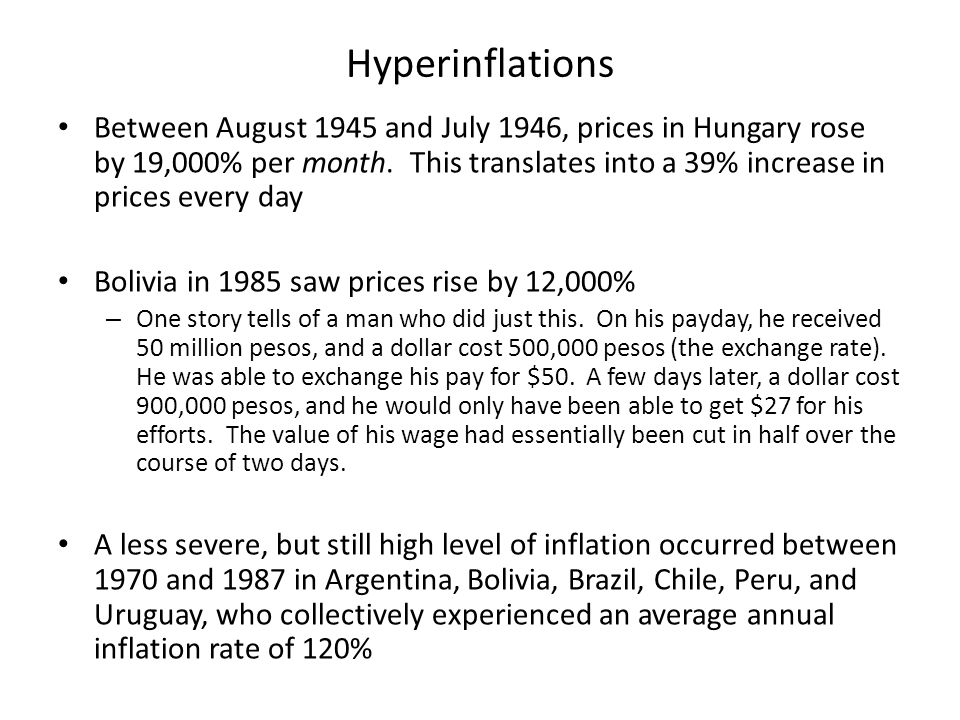 Hyperinflations