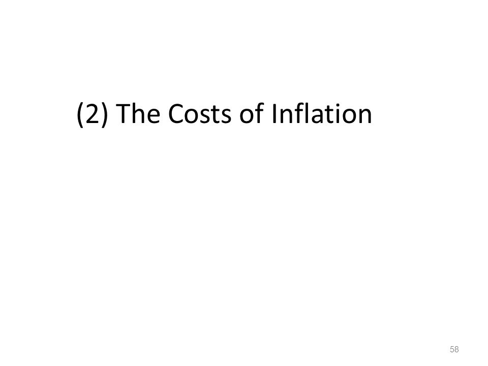 (2) The Costs of Inflation