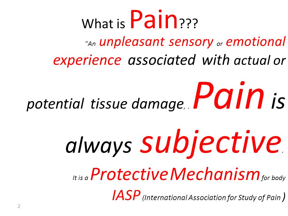 IASP (International Association for Study of Pain )