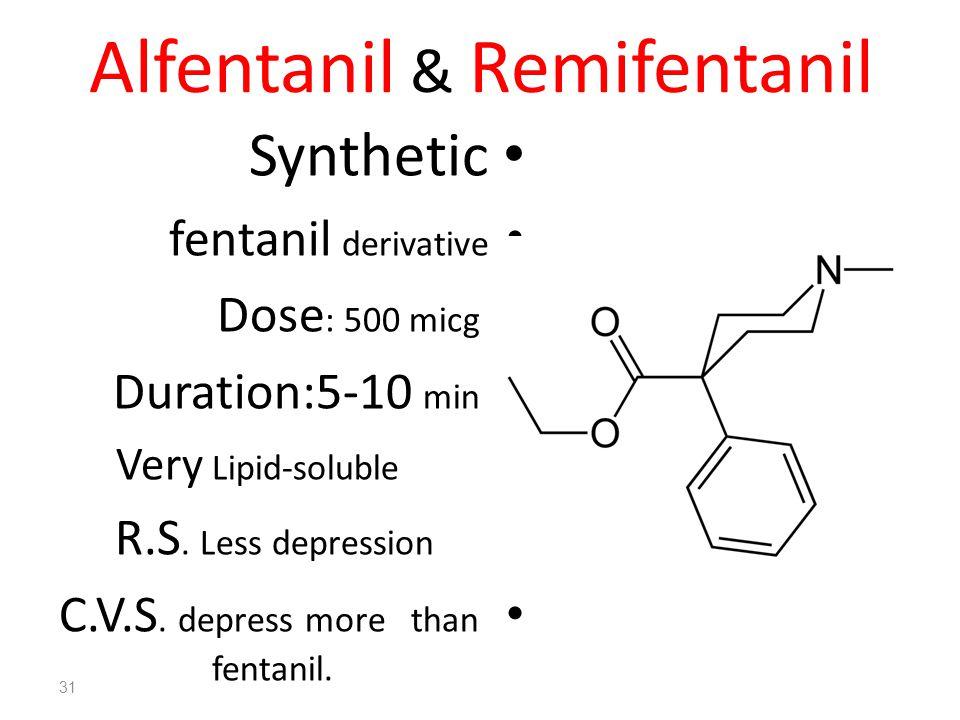 Alfentanil & Remifentanil