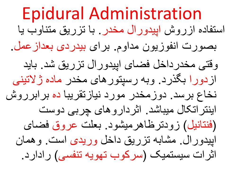 Epidural Administration