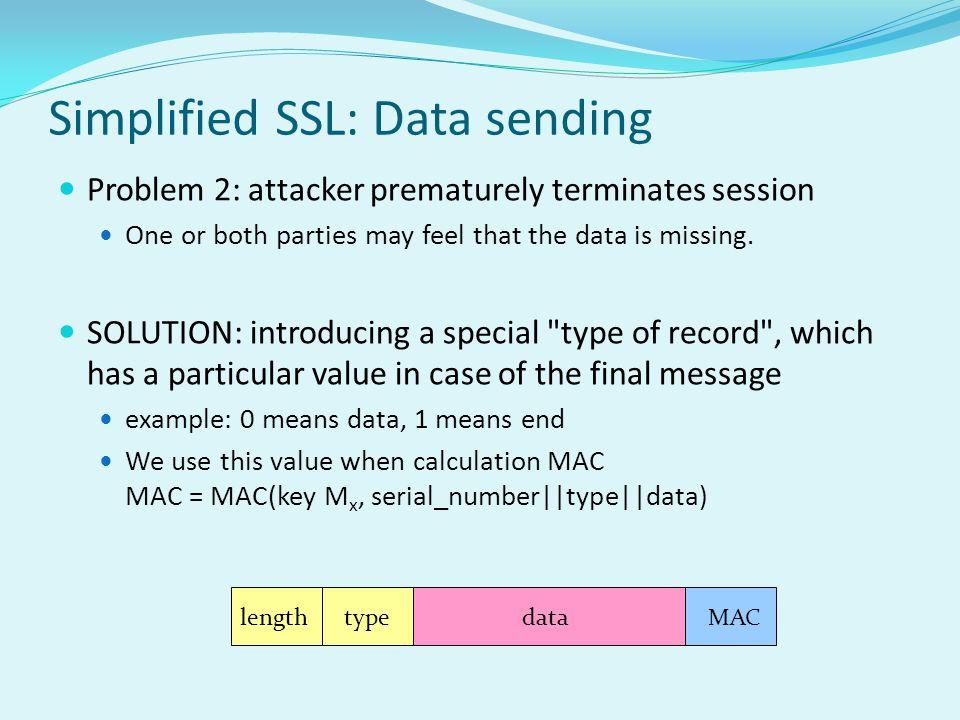 Simplified SSL: Data sending