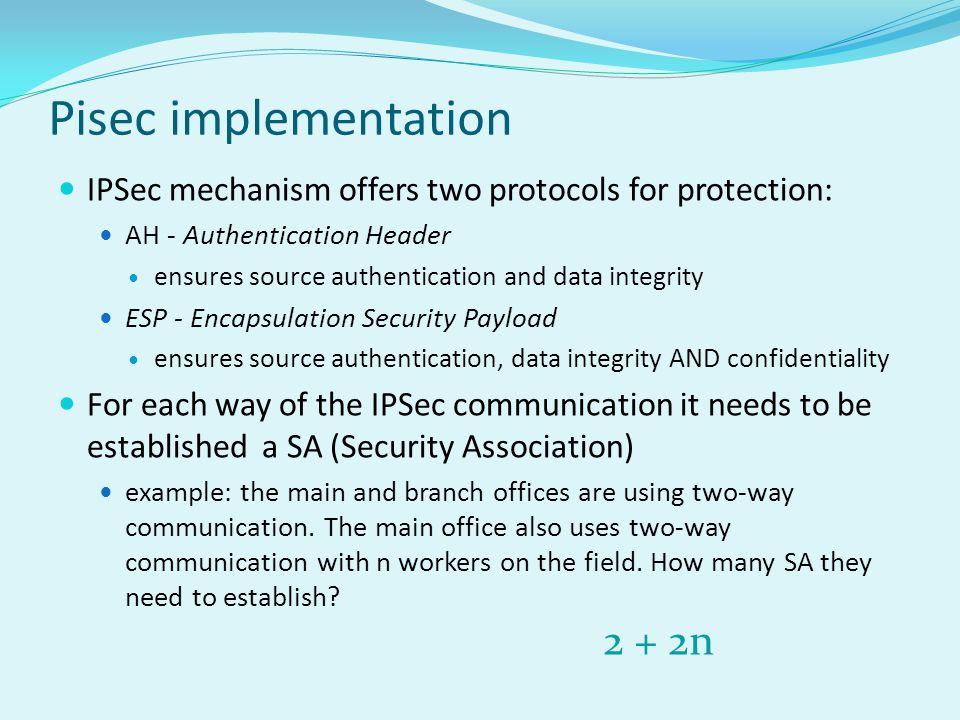 Pisec implementation 2 + 2n