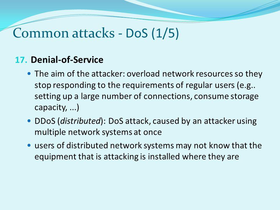 Common attacks - DoS (1/5)
