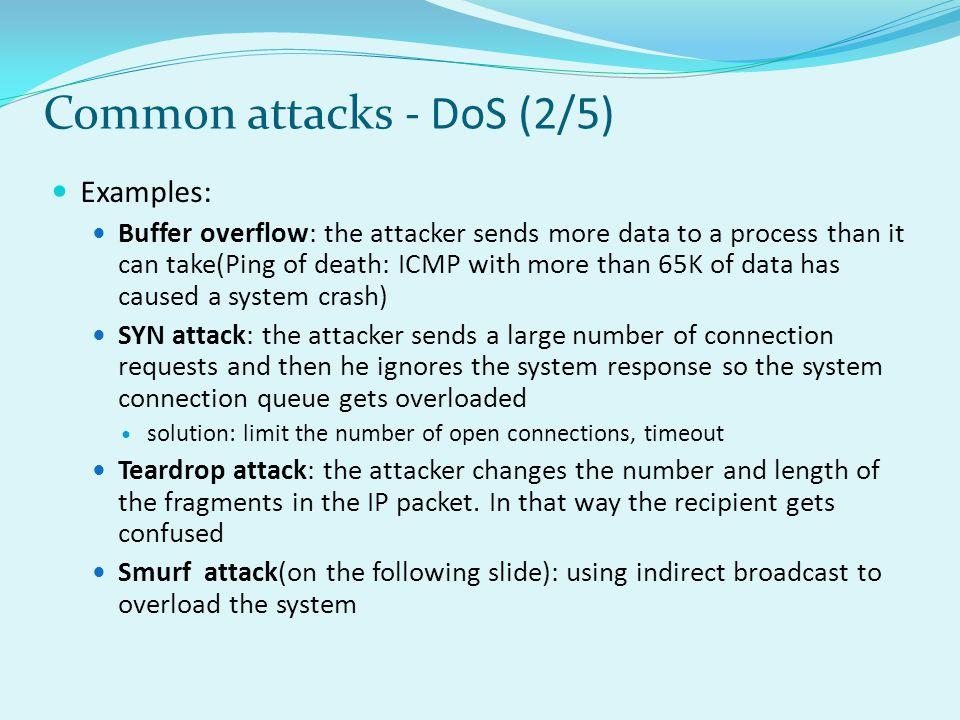 Common attacks - DoS (2/5)