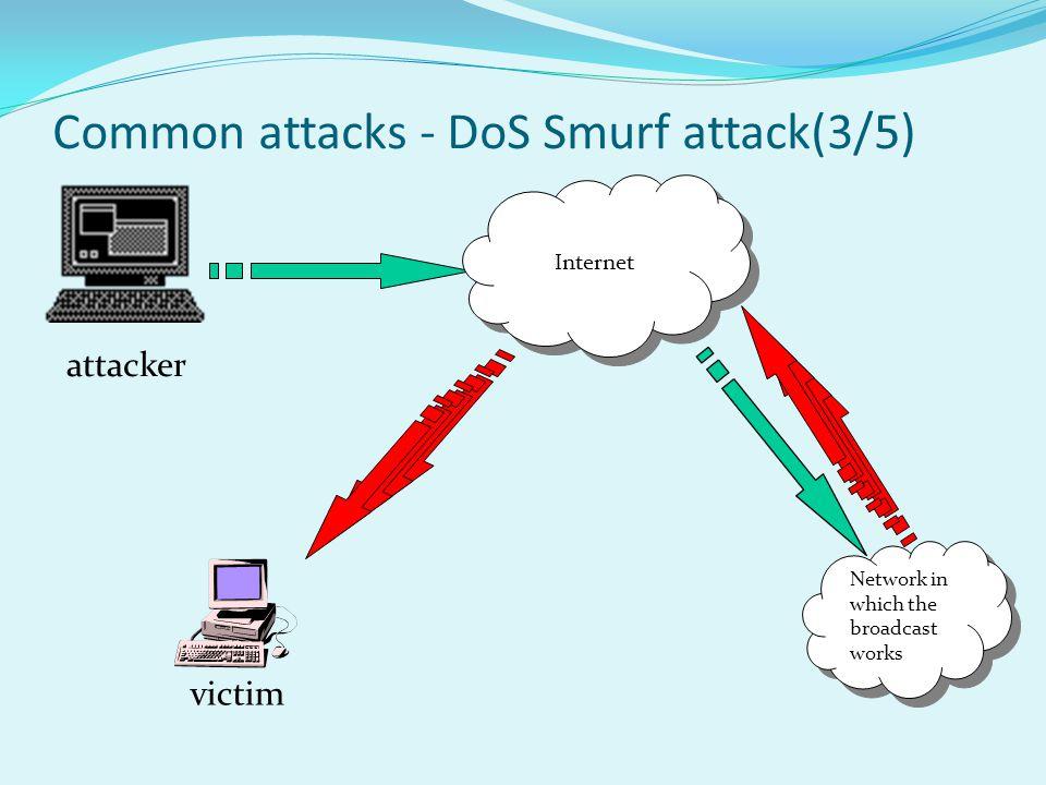 Common attacks - DoS Smurf attack(3/5)