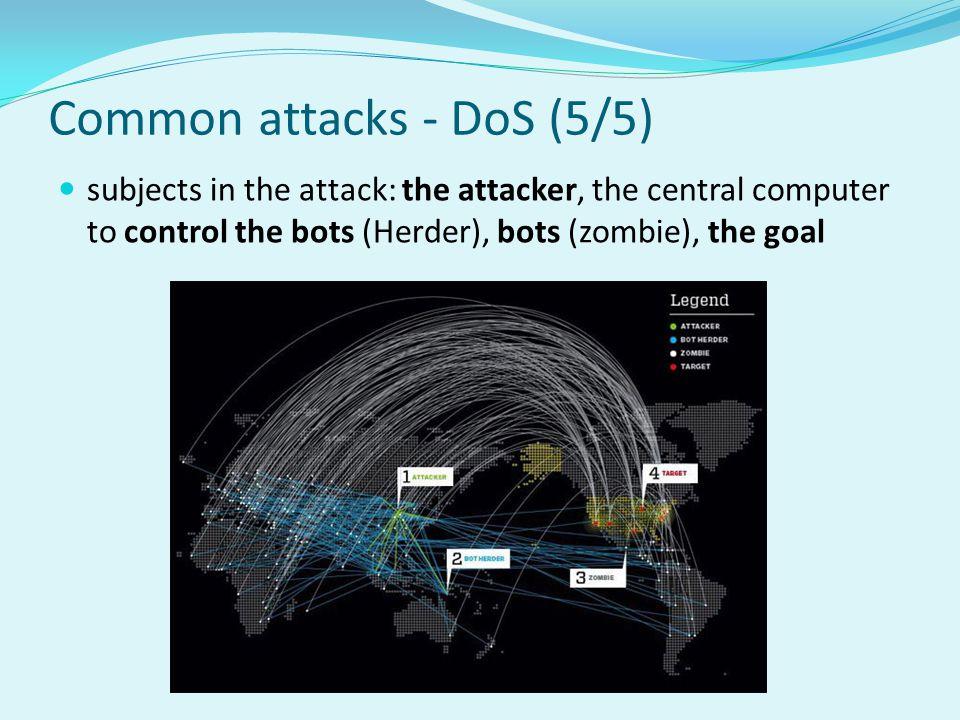 Common attacks - DoS (5/5)