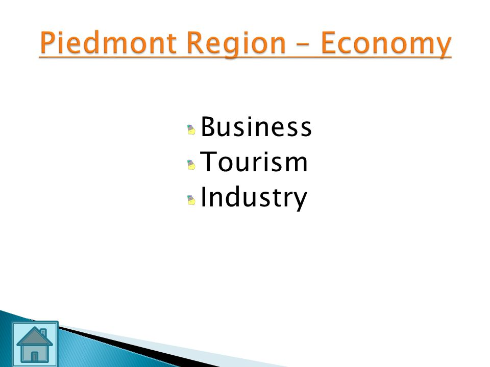 Piedmont Region – Economy
