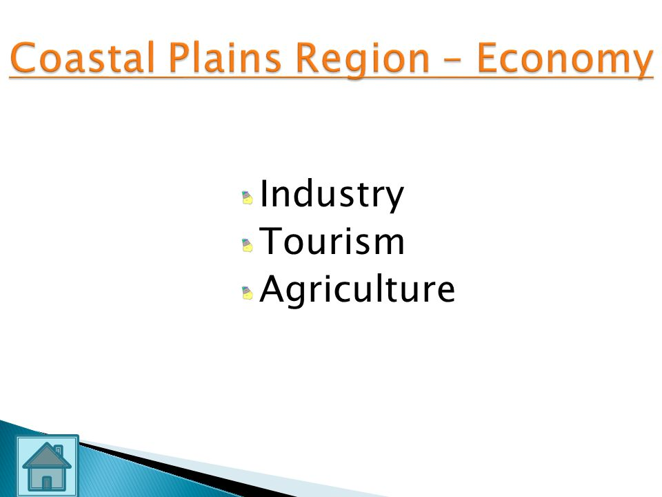 Coastal Plains Region – Economy