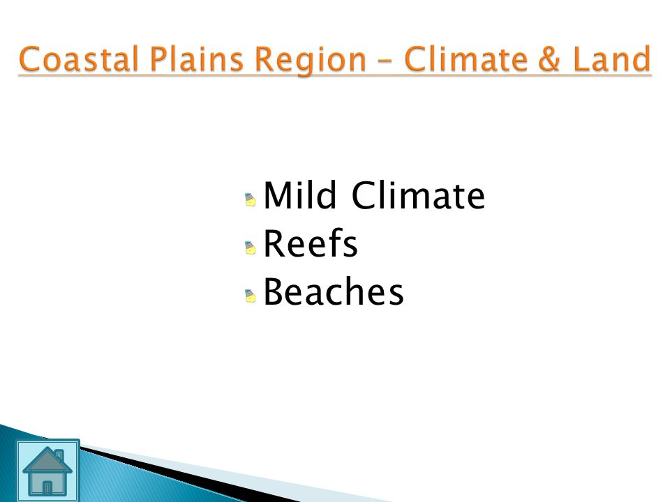 Coastal Plains Region – Climate & Land