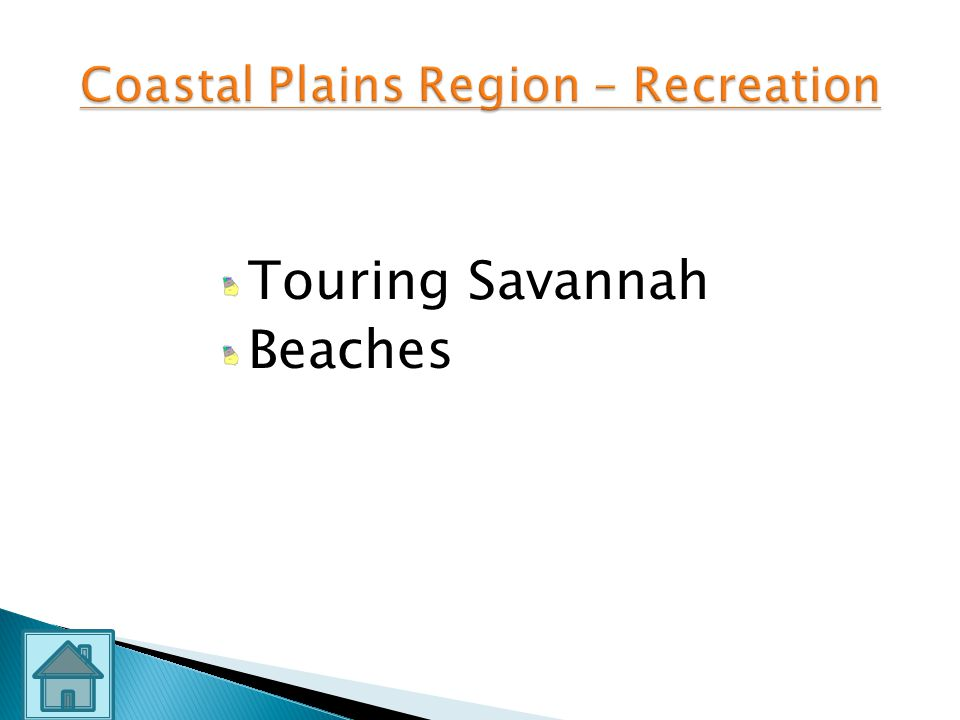 Coastal Plains Region – Recreation