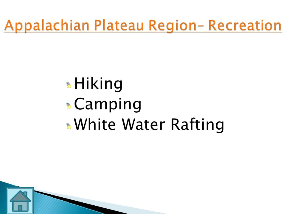 Appalachian Plateau Region– Recreation