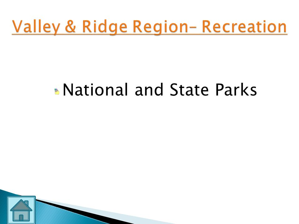 Valley & Ridge Region– Recreation