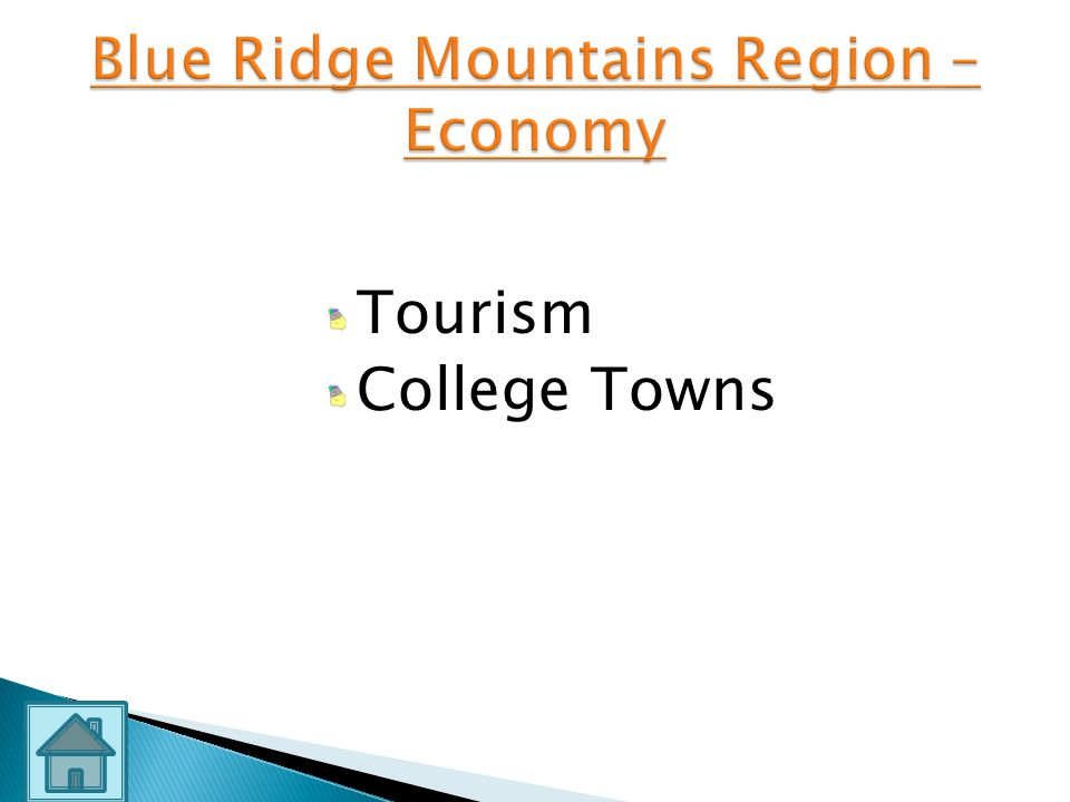 Blue Ridge Mountains Region –Economy