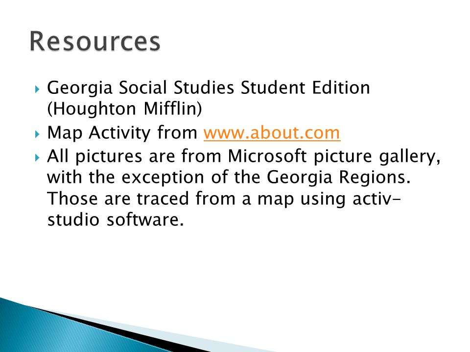 Resources Georgia Social Studies Student Edition (Houghton Mifflin)