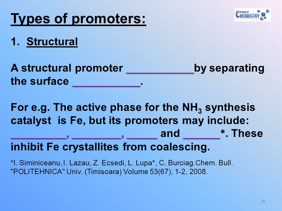 Types of promoters: Structural