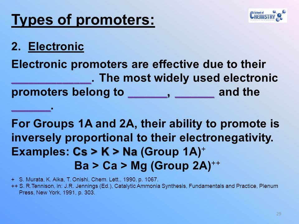 Types of promoters: Electronic
