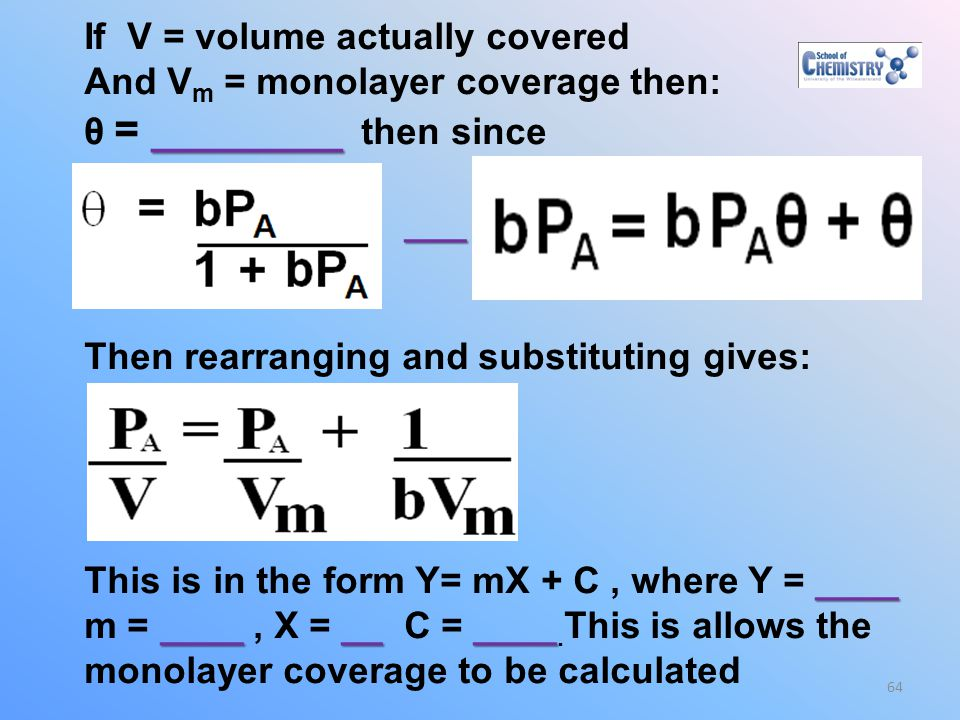 If V = volume actually covered