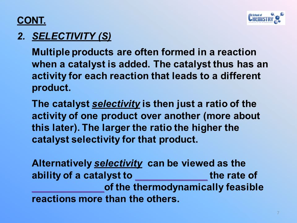 CONT. SELECTIVITY (S)
