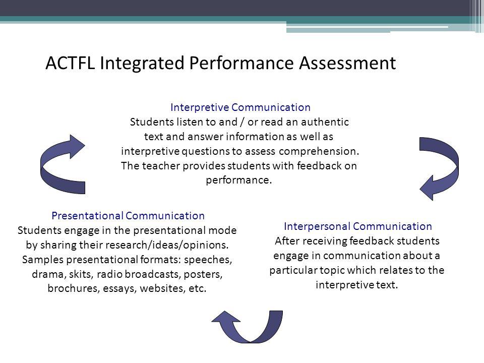 ACTFL Integrated Performance Assessment