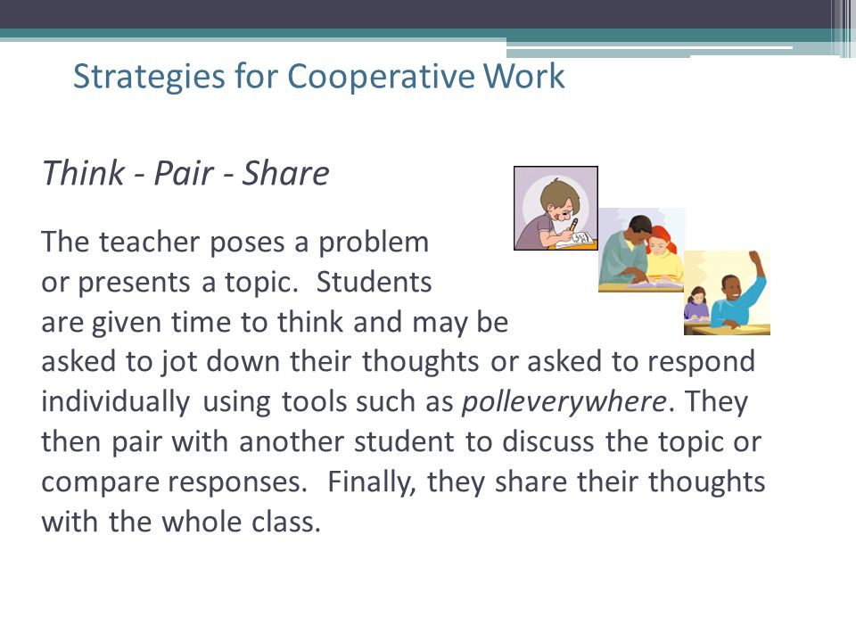 Strategies for Cooperative Work