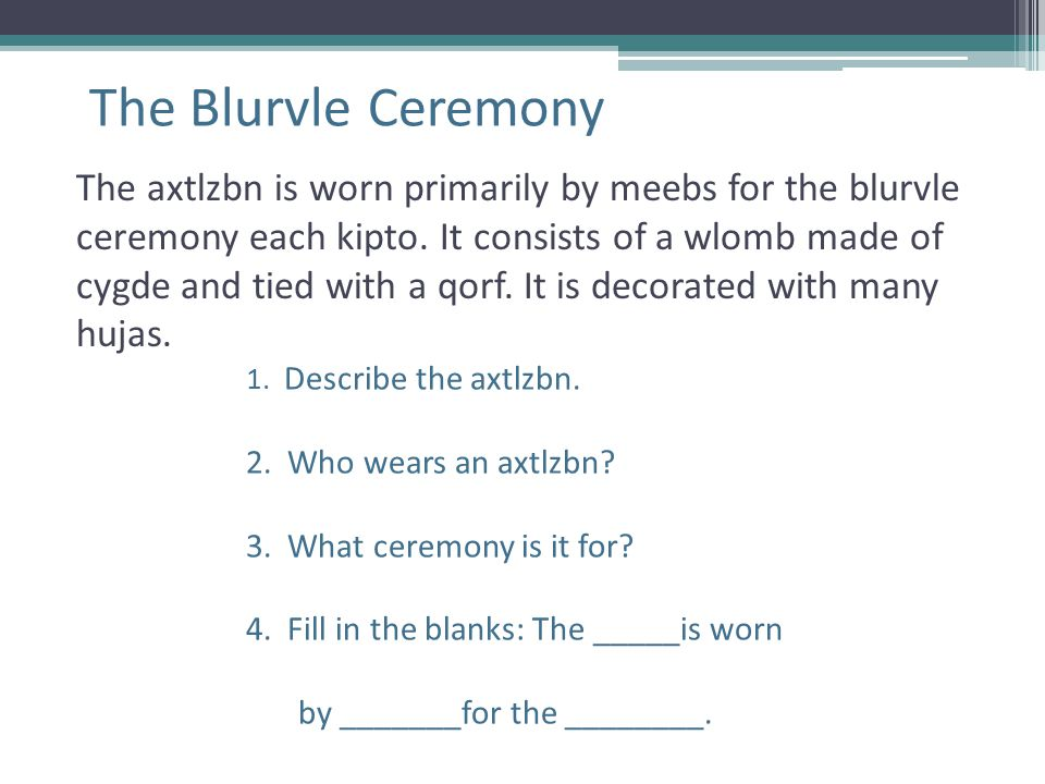 The Blurvle Ceremony