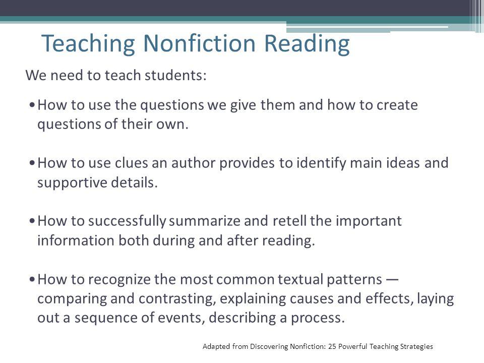 Teaching Nonfiction Reading