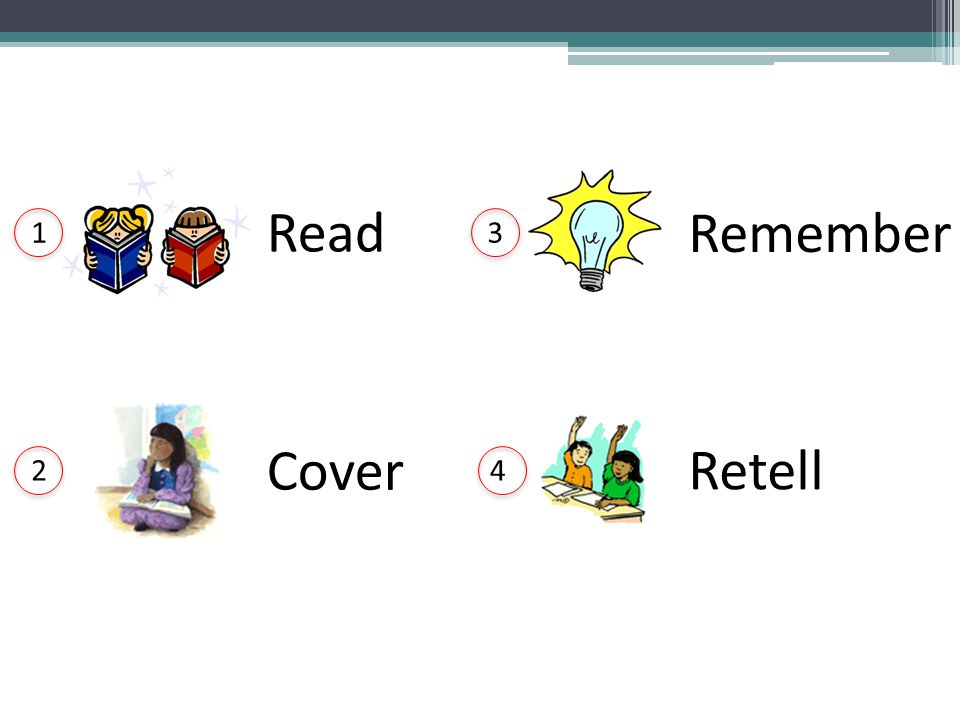 Curriculum Design Read Remember 1 3 Cover Retell 2 4 L. Terrill