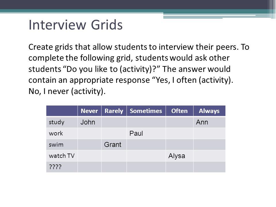 Interview Grids