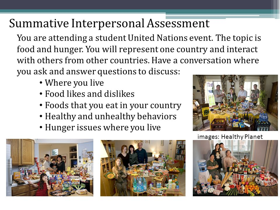 Summative Interpersonal Assessment