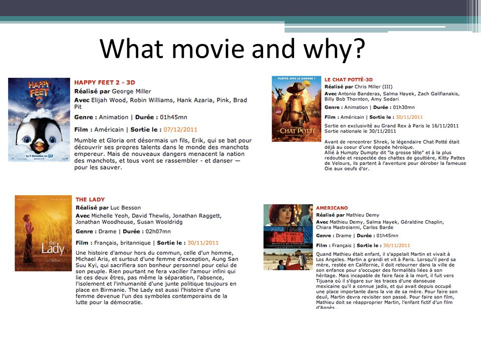 What movie and why