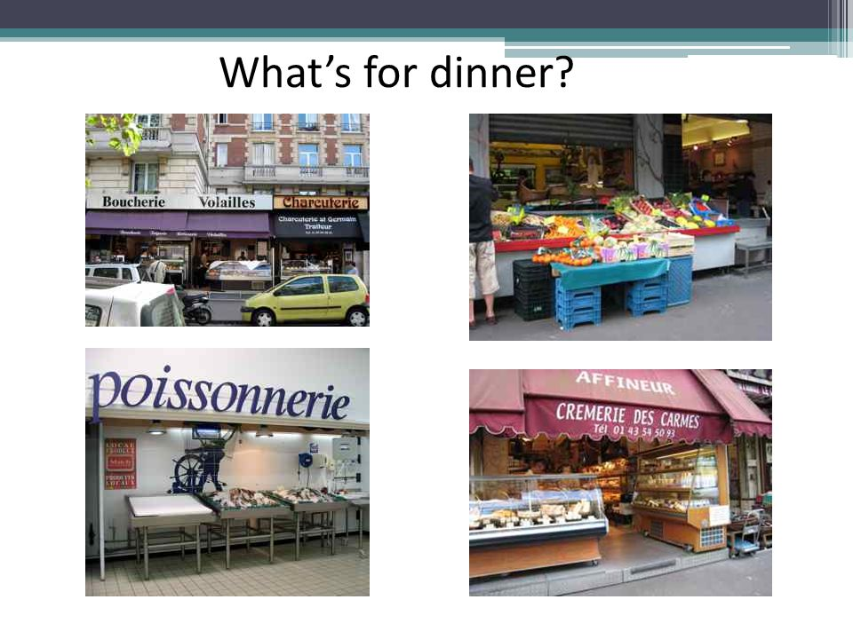 What's for dinner. You spent Saturday morning shopping in these stores.