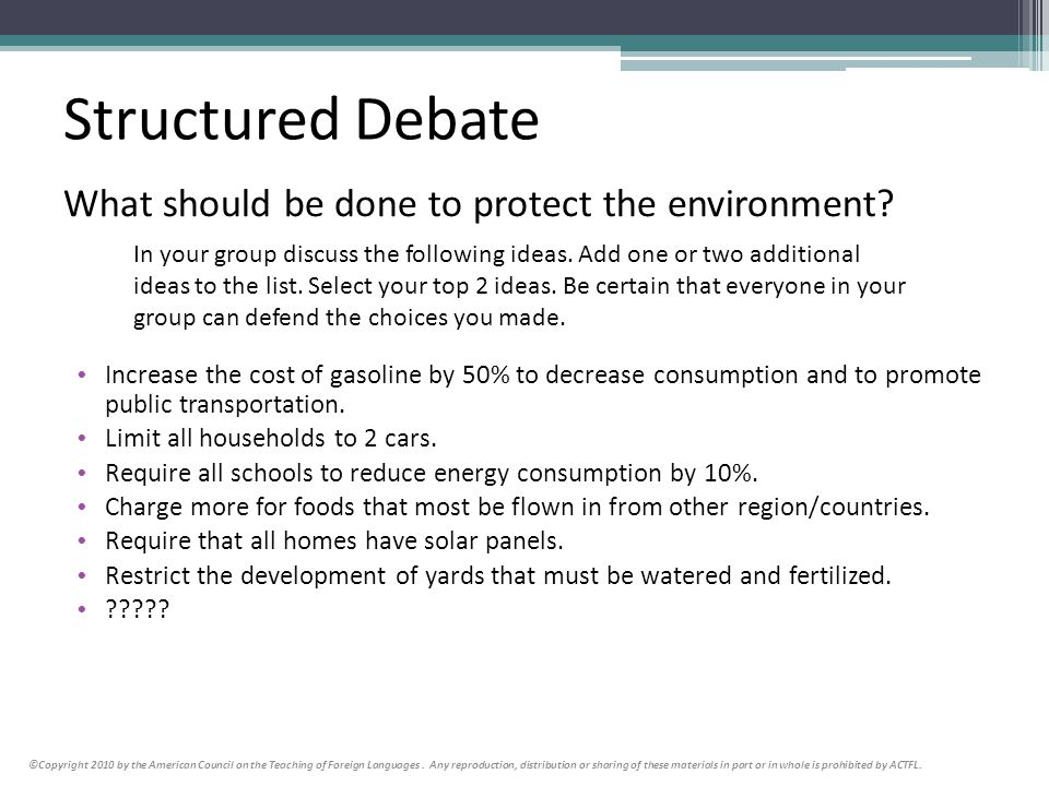 What should be done to protect the environment
