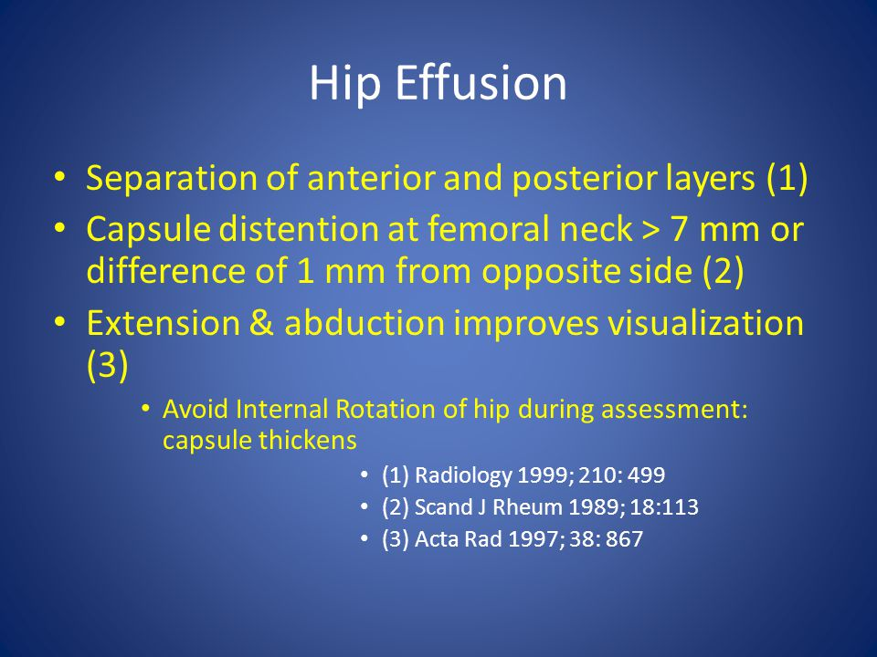 Hip Effusion Separation of anterior and posterior layers (1)