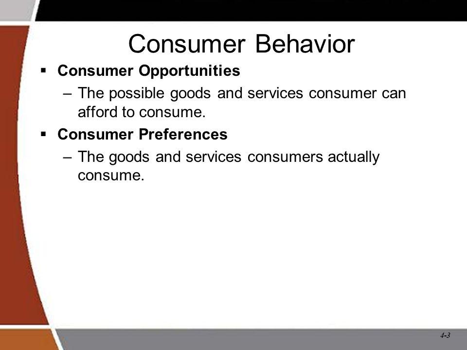 Consumer Behavior Consumer Opportunities