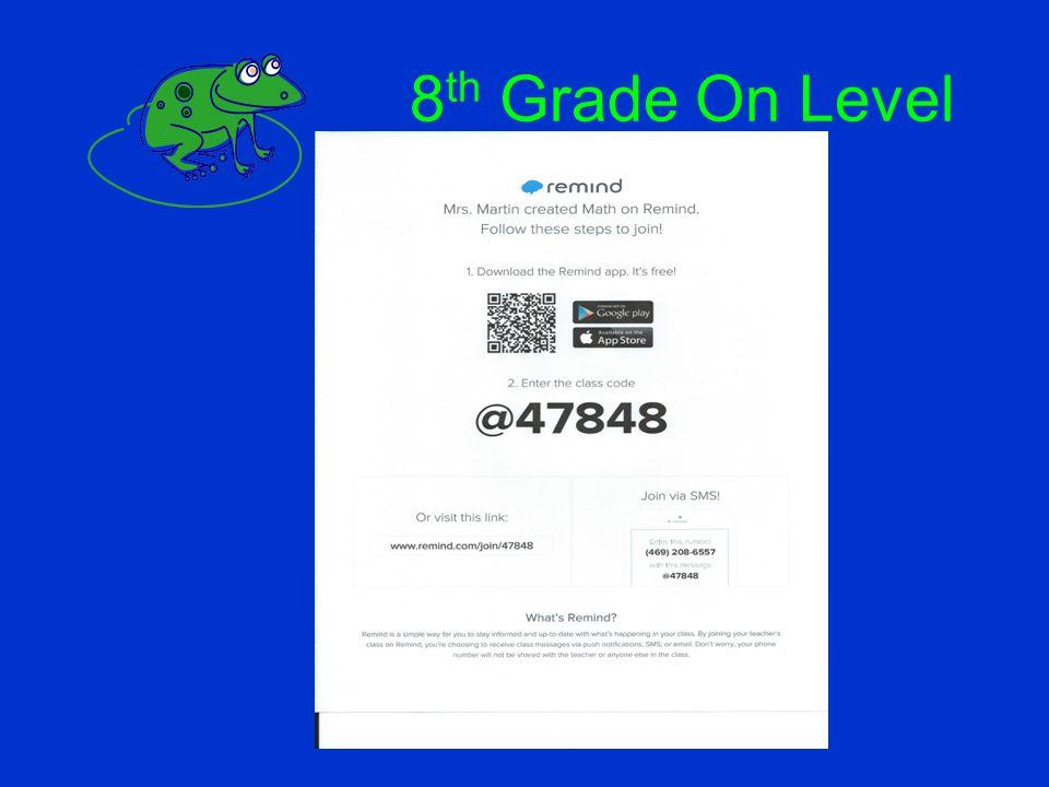 8th Grade On Level