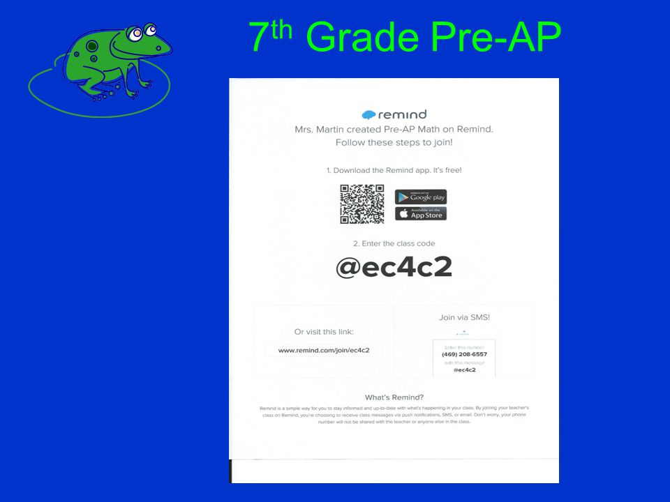 7th Grade Pre-AP