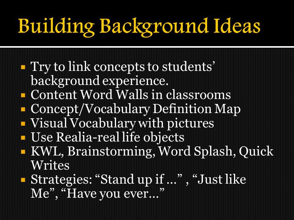 Building Background Ideas
