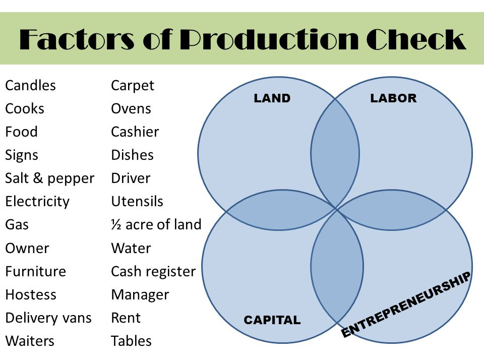 Factors of Production Check