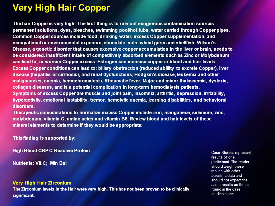 Very High Hair Copper Very High Hair Zirconium